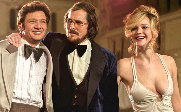 AMERICAN HUSTLE (2013) (l to r) Amy Adams, Bradley Cooper, Jeremy Renner, Christian Bale and Jennifer Lawrence