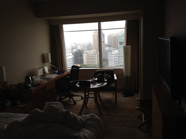 Fruits of my labor: My dank hotel room edit setup from Japan